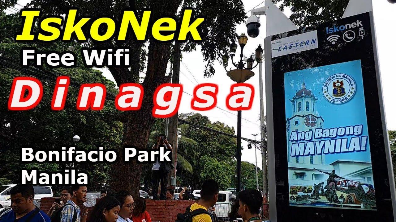 Mayor IskoNek- Free Wifi, Gumana na! Bonifacio Park. Manila Update 2019, Travel vlog Manila..