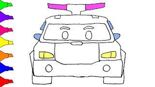 How To Draw Robocar Poli Coloring Book Police Car