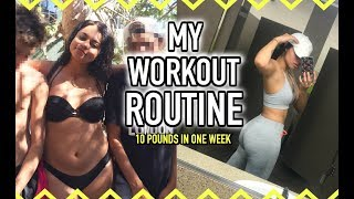 MY WORKOUT ROUTINE ! (how to get slim thick lol)