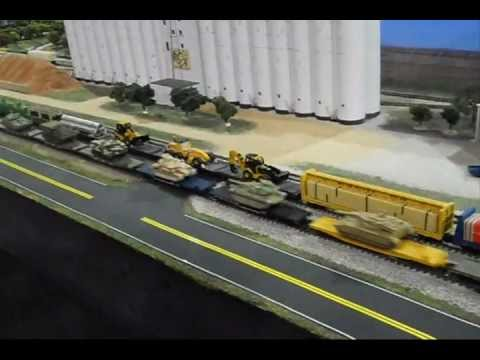 Model Railroad Military Trains Army loads G, HO and N w/sounds added