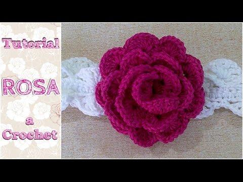 Como tejer una rosa a crochet ganchillo youtube - Como hacer flores de ganchillo ...