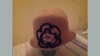 шляпка с большим цветком