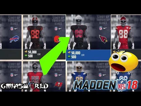 8e02130a019 HOW TO UNLOCK ALL COLOR RUSH UNIFORMS IN MADDEN 18 ULTIMATE TEAM GAMEPLAY!