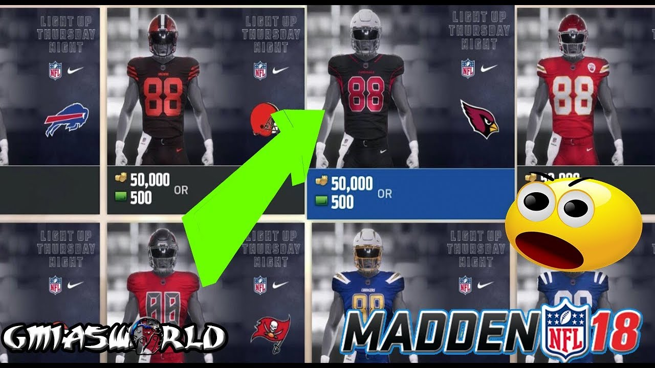 2d7816345e2 HOW TO UNLOCK ALL COLOR RUSH UNIFORMS IN MADDEN 18 ULTIMATE TEAM GAMEPLAY!