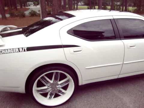 07 Dodge Charger Rt Hemi White 24 Rims Usa Auto Sales