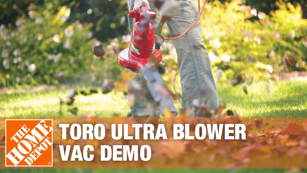 Toro Electric Ultra Blower Vacuum Demo Youtube