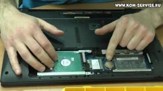 Инструкция по замене памяти, жесткого диска, WI FI и DVD RW ноутбука eMachines E529