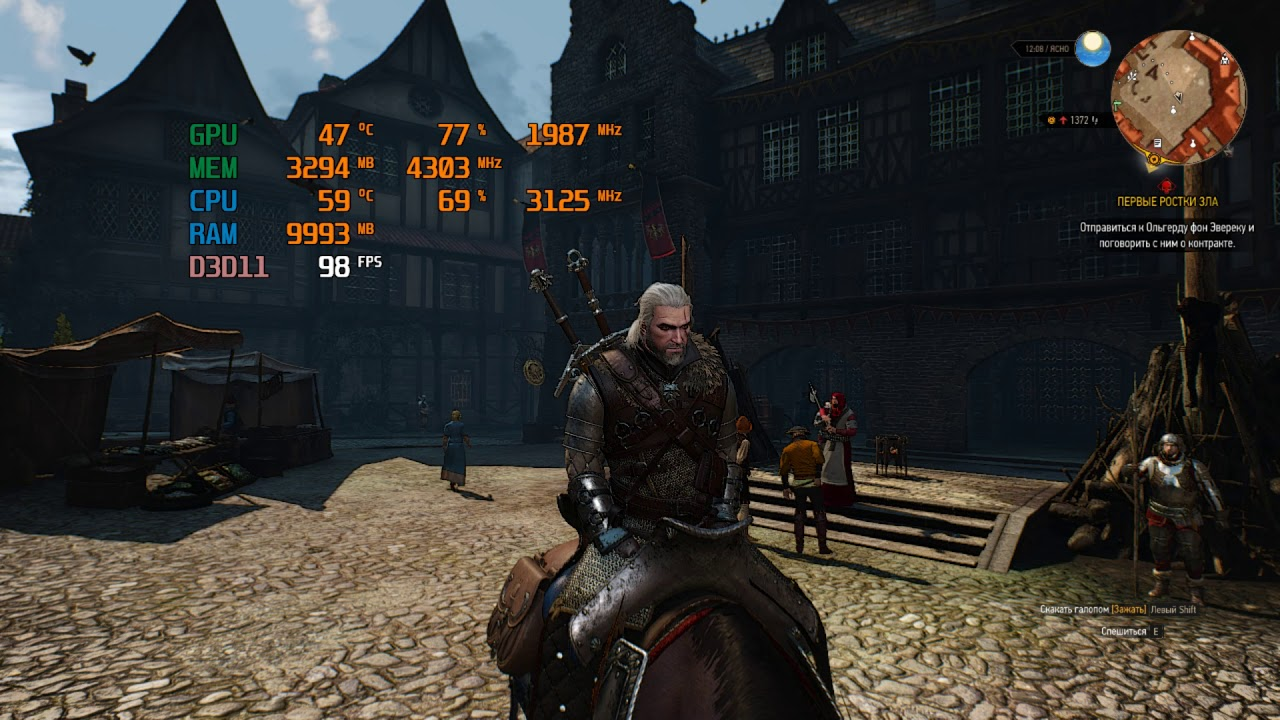 Intel Xeon E5-2667 V3 ES - Witcher 3 (1070Ti) HD720P