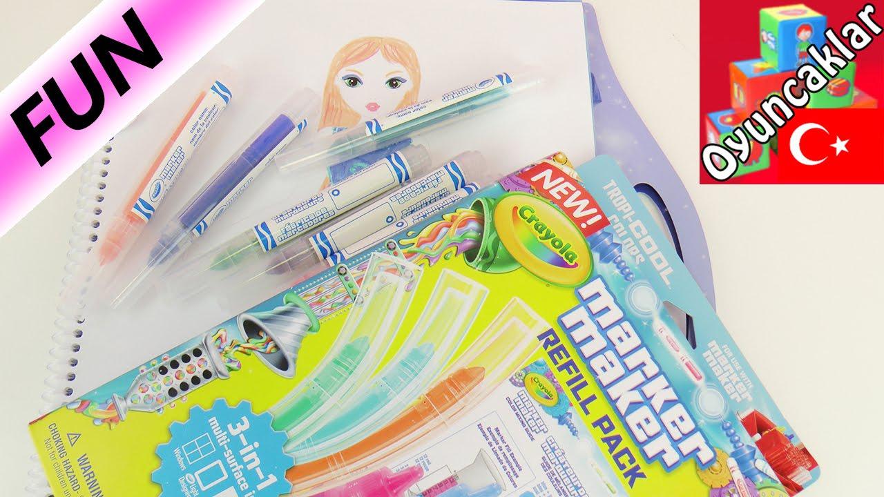 Boyama Oyunları Ile Crayola Marker Maker Manken Ve Elbise Boyamak