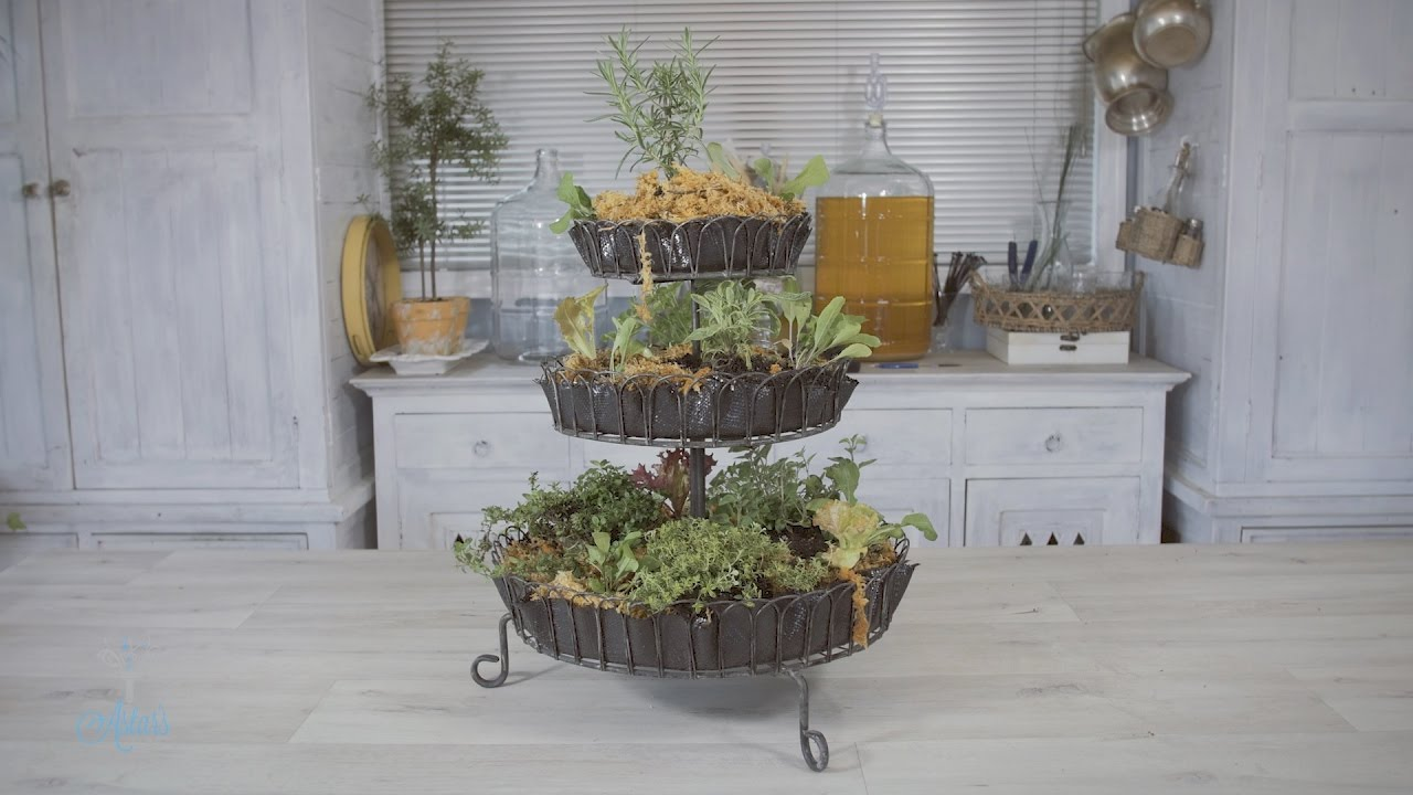 How To Make A Countertop Herb Garden For Your Kitchen Youtube