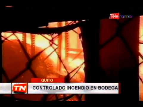 Controlado incendio en bodega