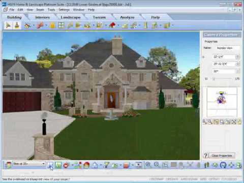 Hgtv home design software rendering animation youtube for Landscape design computer programs