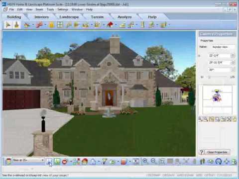 HGTV Home Design Software - Rendering Animation - YouTube