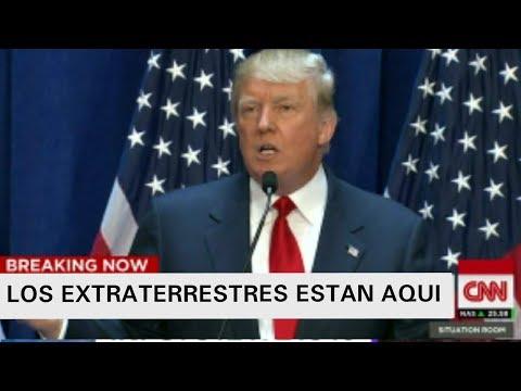POR ERROR DONALD TRUMP ALERTA DE INVASION EXTRATERRESTRE EN CNN