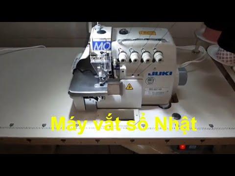 Máy vắt sổ 2 kim 4 chỉ JUKI MO-6814S Nhật 100% | máy may chí hải.