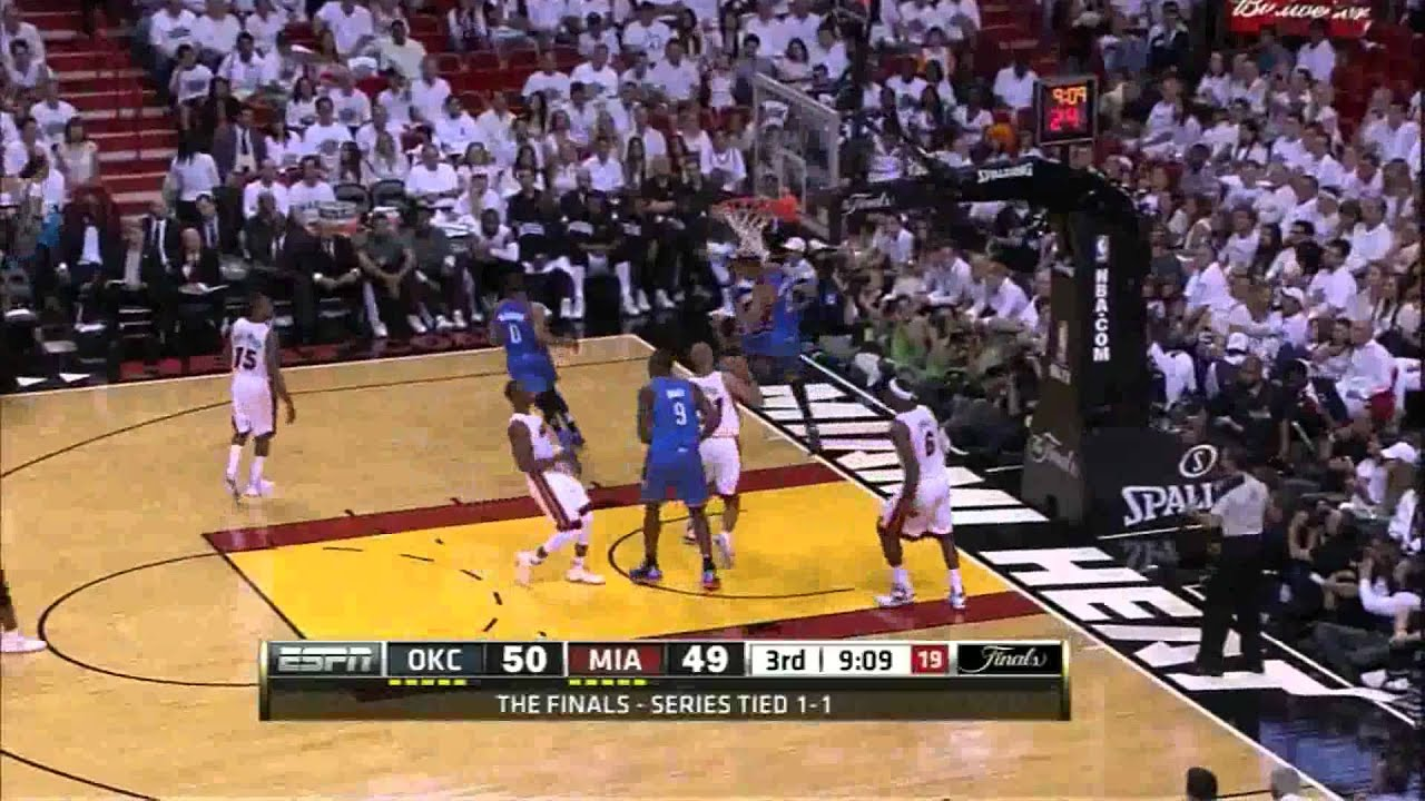 2090023bfb2 All dunks Miami Heat vs Oklahoma City Thunder full highlights GM3 NBA  FINALS 2012.06.17 HD