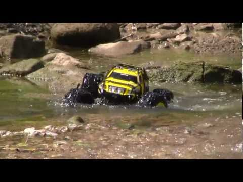 Traxxas Summit 1:10 1:8 Stock Rock Crawler in Action - YouTube