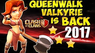 Queen Walk VALKYRIE is BACK!? TH9 SUPER STRONG War Attack Strategy 2017 | Clash of Clans