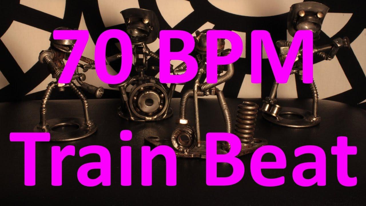 70 BPM - Train Beat Country Rock - 4/4 Drum Track - Metronome - Drum Beat
