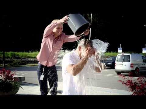 Magnus Billing, President of NASDAQ OMX Stockholm, takes the Icebucket Challenge
