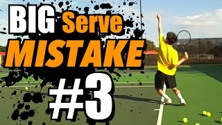 BIG tennis serve MISTAKE #3 - Leg Drive