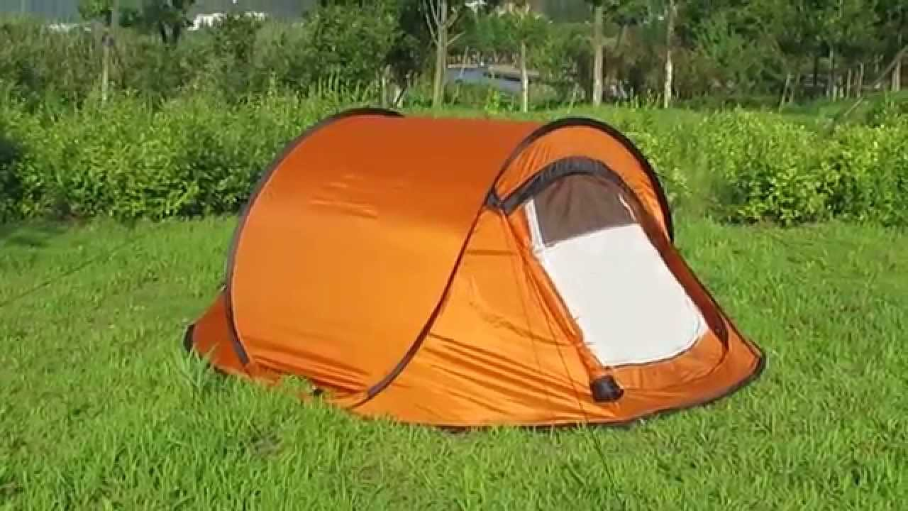 Double Layers 3 Man Pop Up Tent/ 2 Seconds Tent & Double Layers 3 Man Pop Up Tent/ 2 Seconds Tent - YouTube