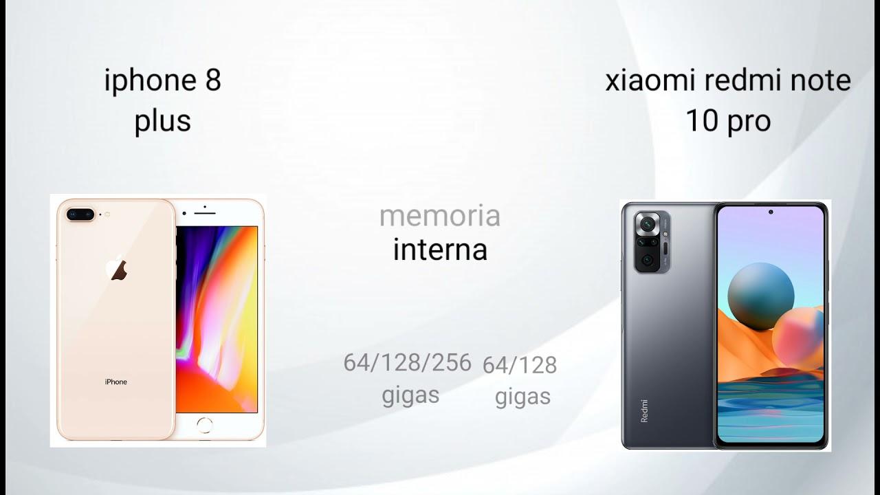 iPhone 8 plus vs xiaomi redmi note 10 pro | comparación |