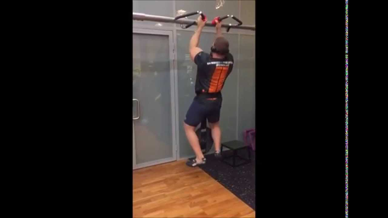Pull-ups with 76mm grip
