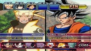 Dragon Ball Z Budokai Tenkaichi 3 - Naruto and Sasuke VS Goku and Vegeta Migatte no Gokui PS2 MOD