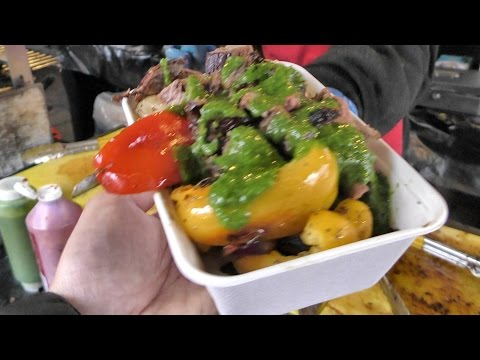 London Street Food from Brazil. Churrasco Eaten at Camden Lock Market