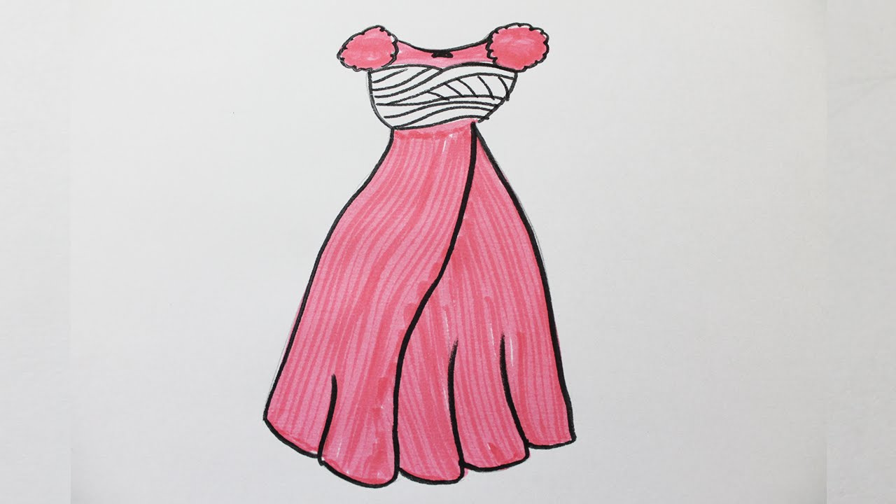Comment Dessiner Une Robe De Princesse Youtube