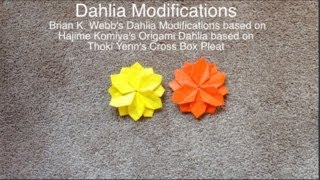 Origami Dahlia Modifications