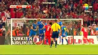 türkiye izlanda ilk gol 13.10.15 selçuk inan