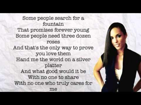 Alicia Keys - If I Ain't Got You (Lyrics)