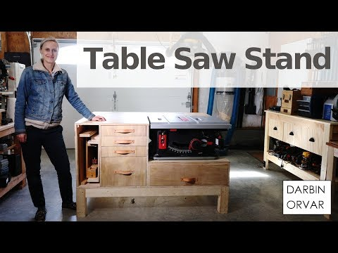 Ultimate Table Saw Stand w/ Organization