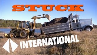International Dump Truck Stuck