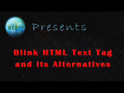 Html Blink Text Tag And Its Alternatives