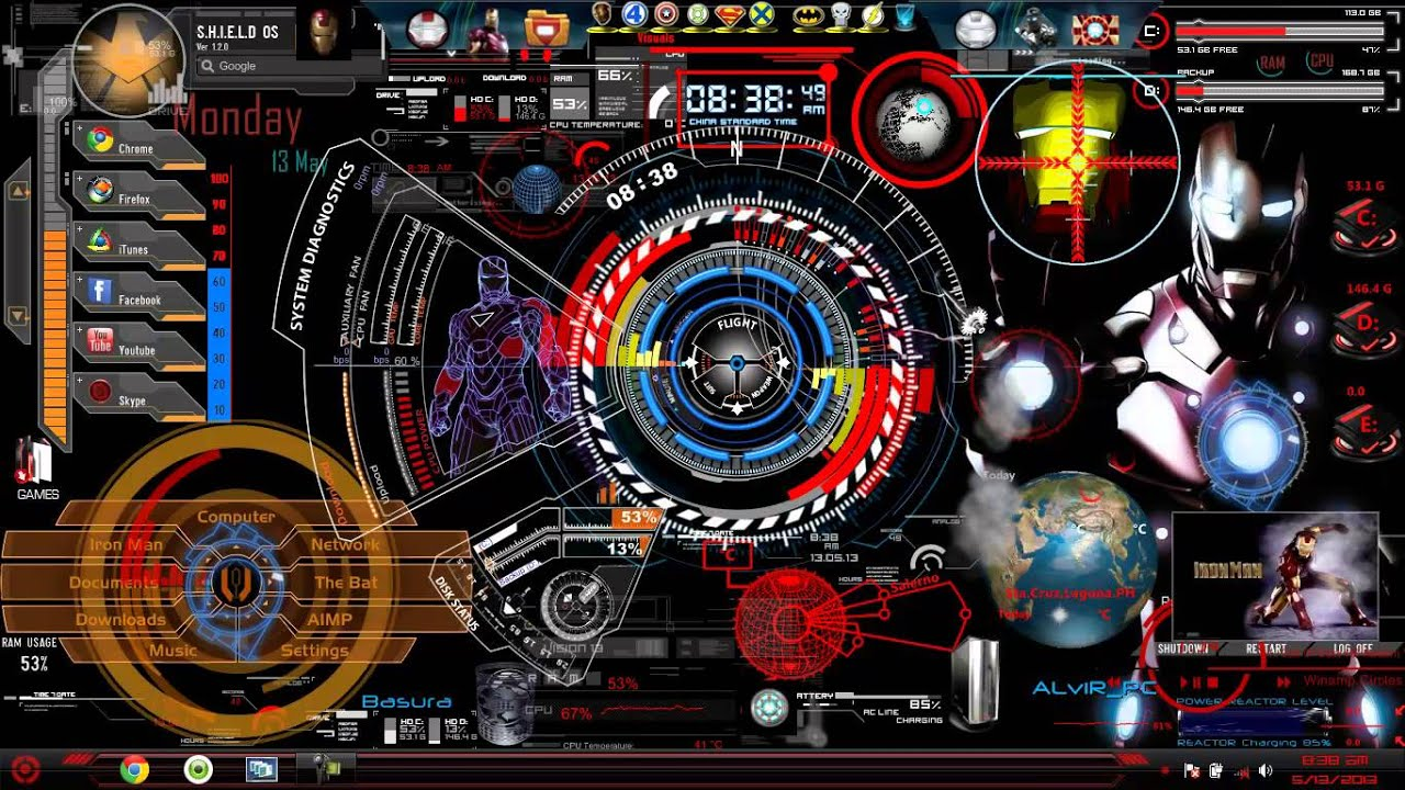 3d Effect Live Wallpapers Jarvis 5 0 Iron Man Mark 7 Interface Youtube