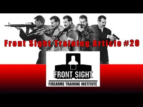 Front Sight Training Article #20-Gun Training Article #20-Ammo Problems Article #20-FrontSight