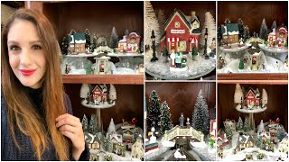 DOLLAR TREE CHRISTMAS VILLAGE DISPLAY SET UP   2018
