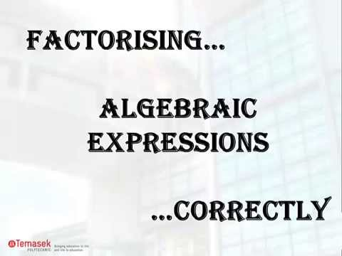 Mathematics Misconception #10 (Factorising algebraic expressions correctly, special product)
