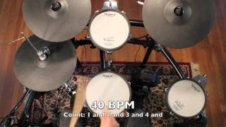 Drum Lessons For Beginners - Beat D