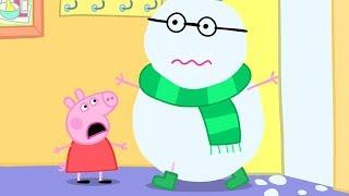 粉紅豬小妹 | 佩佩豬想在晴天出去玩,可是下了好大的雪 | Peppa Pig Chinese | 動畫