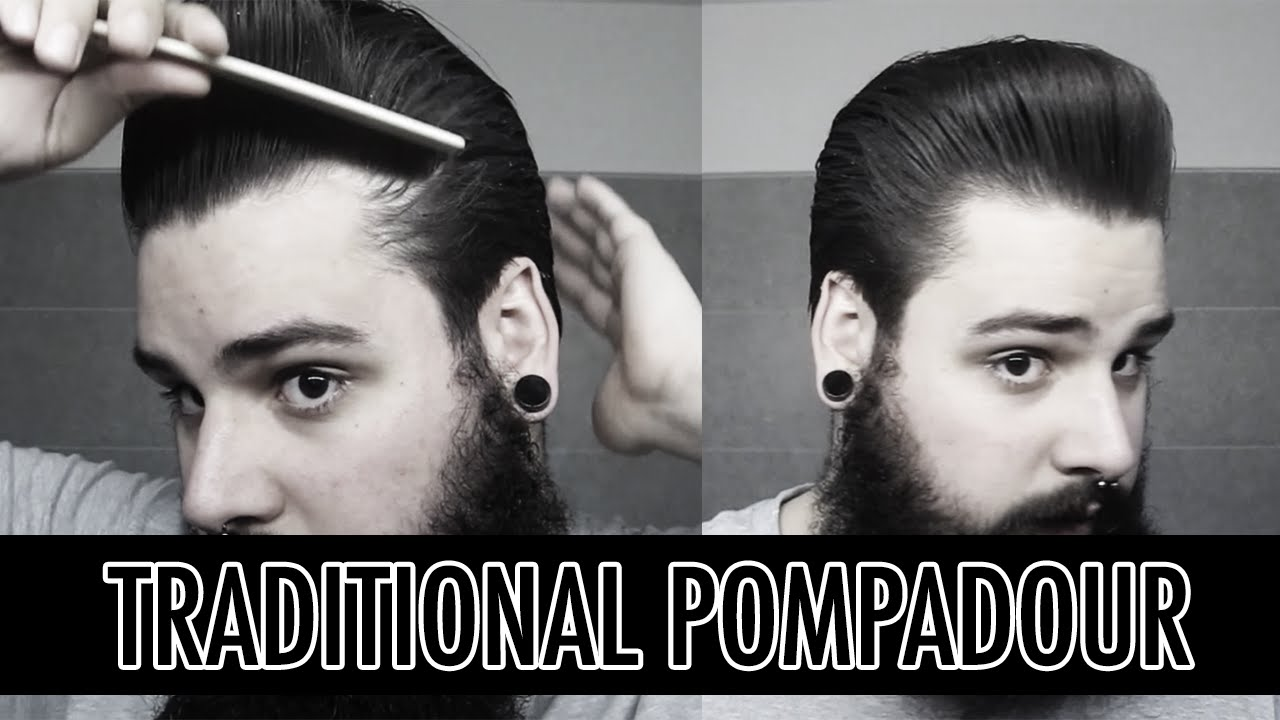 How to style a traditional pompadour | Men's hairstyling tutorial