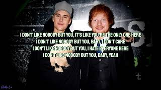 Ed Sheeran & Justin Bieber I Don't Care (with LYRICS)