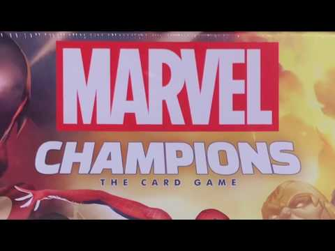 Marvel Champions. The Card Game - распаковка