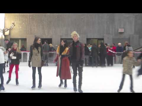 TROIAN BELLISARIO, ERICA DASHER and NICK ROUX Go Skating!
