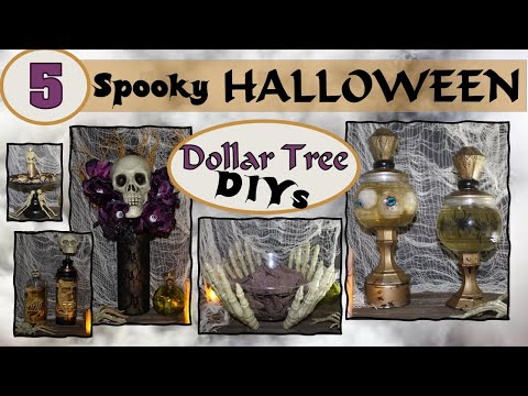 DIY Dollar Tree Halloween Décor (2019) | 5 Spooky Project Ideas | Inexpensive and Easy