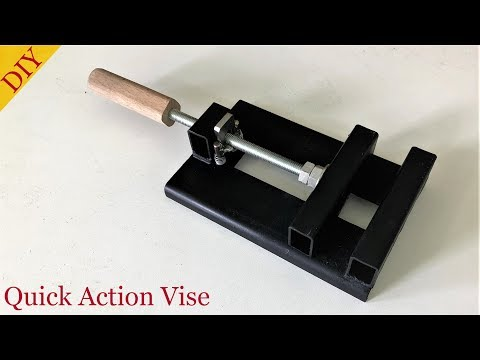 Make a Quick Action Drill Press Vise // Sütunlu Matkap Mengenesi Yapımı
