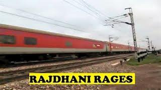 WAP7 Mumbai Rajdhani Honks Burns Ajhai